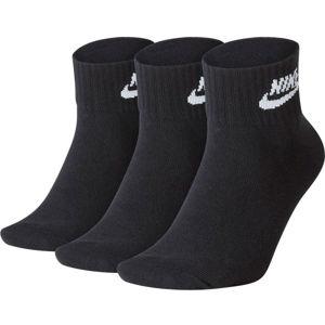 Nike NSW EVRY ESSENTIAL ANKLE U černá L - Ponožky