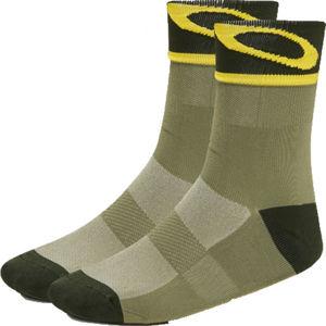 Oakley SOCKS 3.0 zelená XL - Unisex ponožky