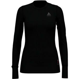 Odlo SUW TOP CREW NECK L/S NATURAL 100% MERINO černá S - Dámské tričko s dlouhým rukávem