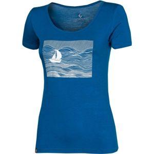 Progress SS SKIPPER LADY modrá XL - Dámské bambusové triko