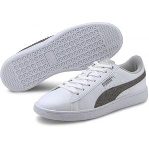 Puma VIKKY V2 METALIC bílá 6.5 - Dámské volnočasové boty