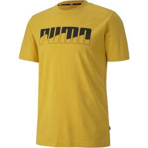 Puma REBEL BOLD TEE žlutá XXL - Pánské triko