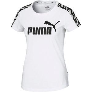 Puma AMPLIFIED TEE bílá XL - Dámské sportovní triko