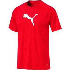 Puma LIGA SIDELINE TEE červená M - Pánské triko