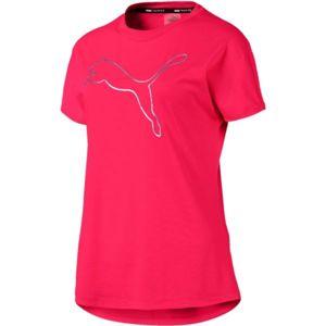 Puma CAT TEE růžová M - Dámské sportovní triko