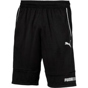 Puma TEC SPORTS INTERLOCK SHORT černá XL - Pánské šortky