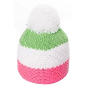 R-JET ČEPICE DĚTSKÁ JR zelená UNI - Dívčí pletená čepice