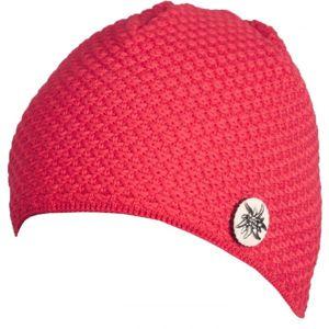 R-JET SPORT FASHION BASIC červená UNI - Dámská pletená pruhovaná čepice