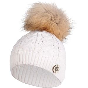R-JET UNI TOP FASHION ALPINKA bílá UNI - Dámská pletená čepice