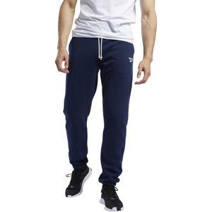 Reebok TE FT CUFFED PANT modrá XL - Pánské tepláky