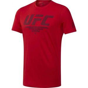 Reebok UFC FG LOGO TEE červená L - Pánské triko