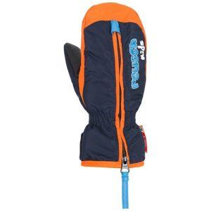 Reusch BEN MITTEN modrá 4 - Dětské lyžařské rukavice