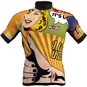 Rosti POP ART žlutá 3XL - Pánský cyklistický dres