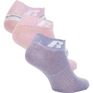 Russell Athletic KIDS ANKLE SOCK 3 PÁRY růžová 29-31 - Dětské ponožky