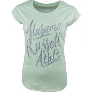 Russell Athletic S/S  LOGO GREEN TEE zelená XL - Dámské tričko