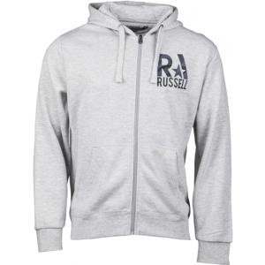 Russell Athletic ZIP šedá M - Pánská mikina
