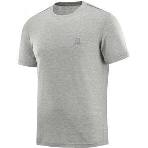 Salomon EXPLORE SS TEE M šedá 2XL - Pánské outdoorové tričko
