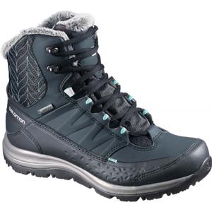 Salomon KAINA MID GTX tmavě modrá 4.5 - Dámská zimní obuv