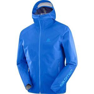 Salomon OUTLINE JKT M modrá L - Pásnká outdoorová bunda