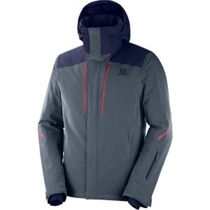 Salomon STORMSEASON JKT M šedá S - Pánská lyžařská bunda
