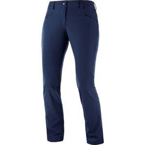 Salomon WAYFARER STRAIGHT LT P tmavě modrá 34 - Dámské outdoorové kalhoty