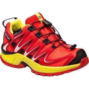 Salomon XA PRO 3D CSWP J červená 31 - Dětská běžecká obuv