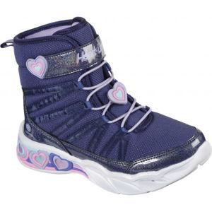 Skechers SWEETHEART LIGHTS  33 - Dětské zimní boty