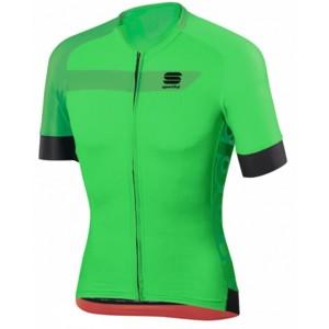 Sportful VELOCE JERSEY zelená XXL - Cyklistický dres