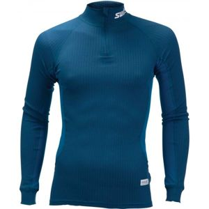 Swix RACEX tmavě modrá XXL - Funkční triko s dlouhým rukávem a límečkem