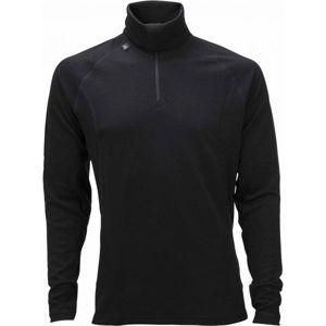 Ulvang TURTLE NECK W/ZIP MS černá XXL - Pánské funkční vlněné triko