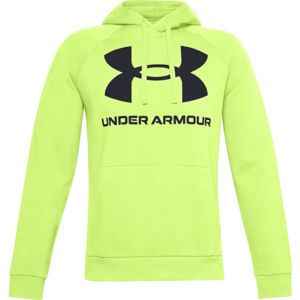 Under Armour RIVAL FLEECE BIG LOGO HD žlutá XXL - Pánská mikina